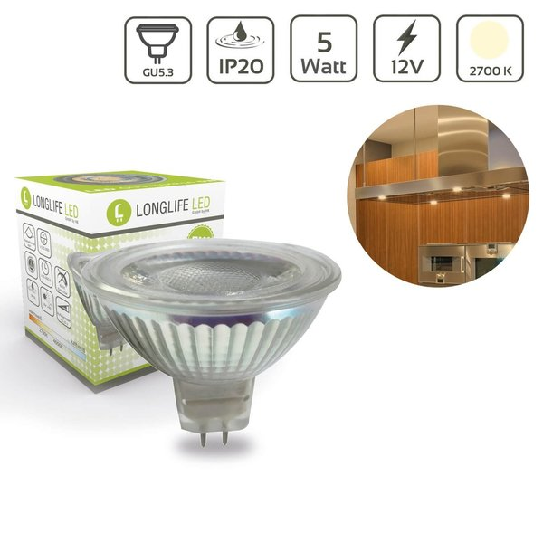 LED Spot GU5.3/MR16 5W 2700K 12VAC/DC 400lm 40°